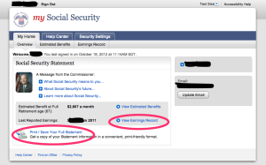 Social Security Website 6